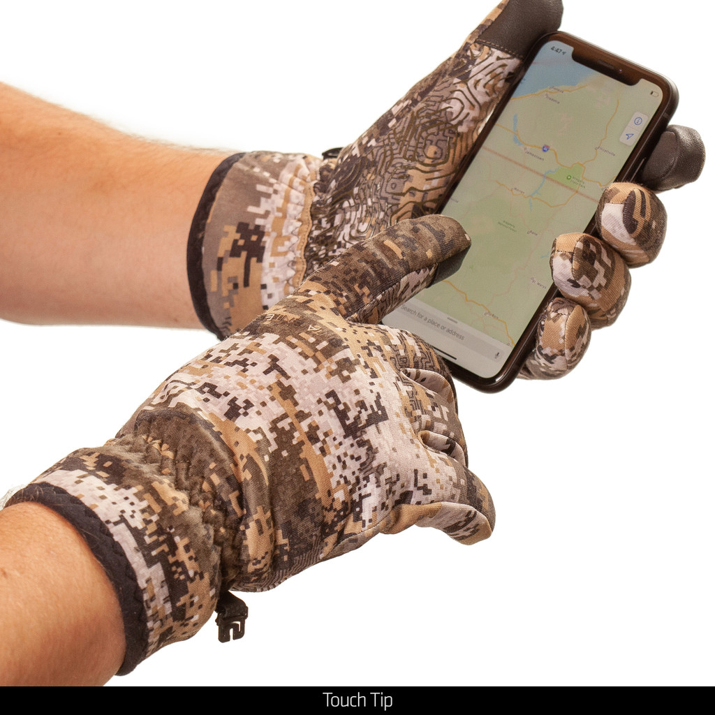 Non-Slip Fused Lining Hunting Gloves - Touth tip.