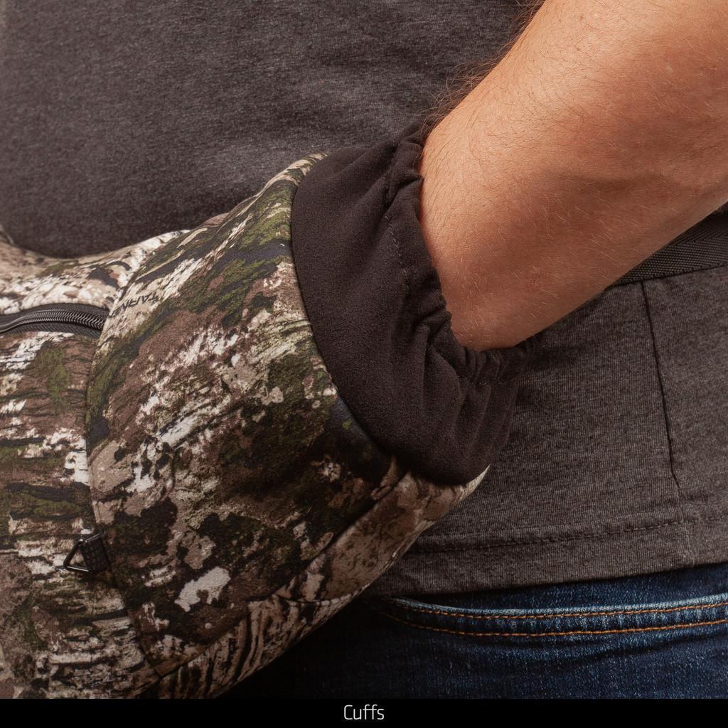 Tarnen® hunting muff - Cuff detail.