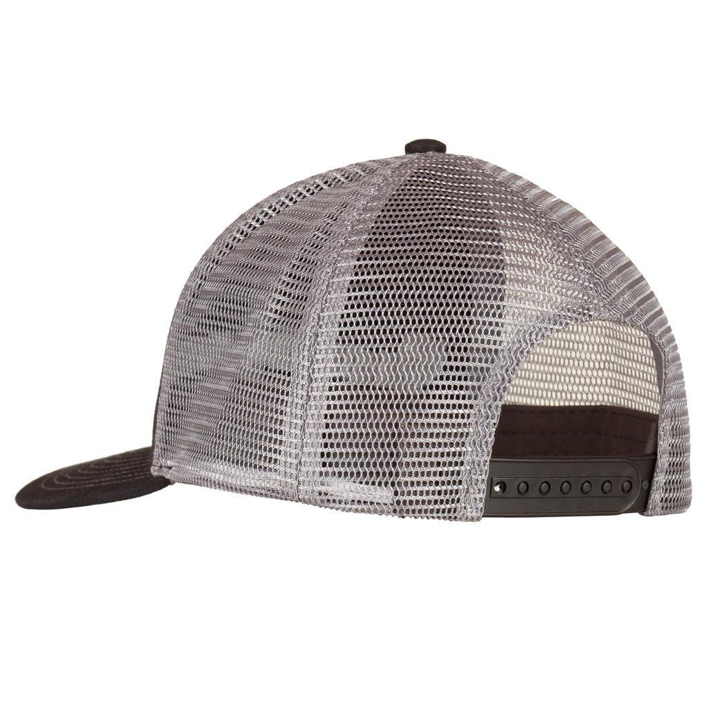 Logo Snapback Cap - Vented mesh back.