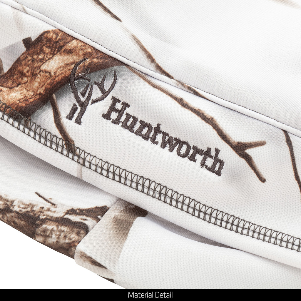 Snow Camo pattern Hat - Huntworth logo.