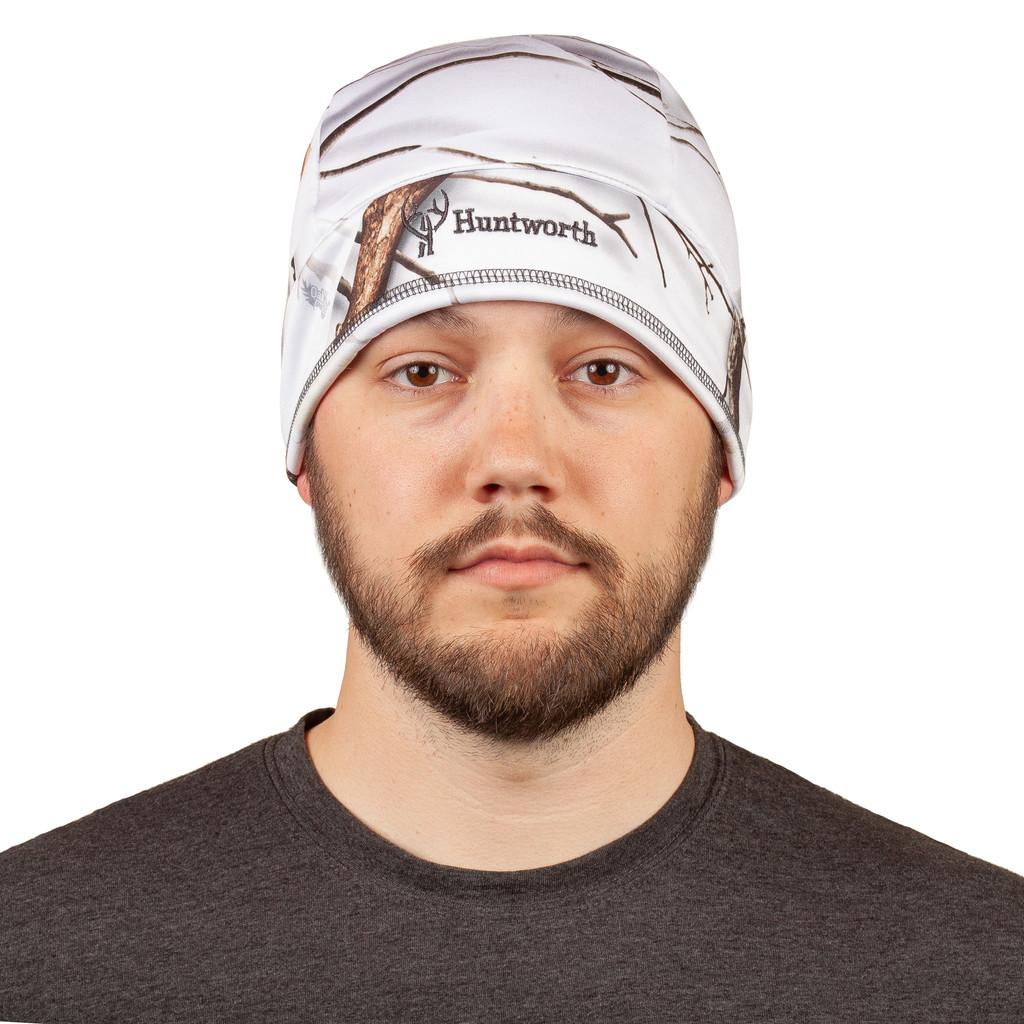 Men's Snow Camo Hat - Comfortable fit.
