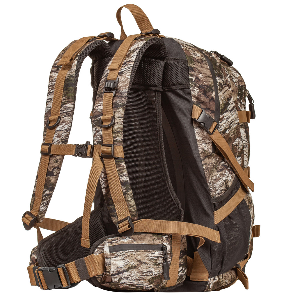 Lightweight Hunting Backpack - Main, admin, belt and side pockets.