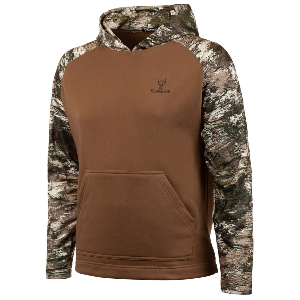 Men's Walnut and Tarnen Camo color Knit Jersey Lifestyle Hoodie.