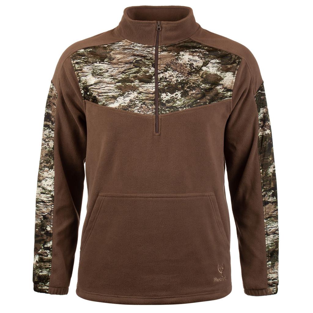 Camo Fleece Pullover - High stand collar.