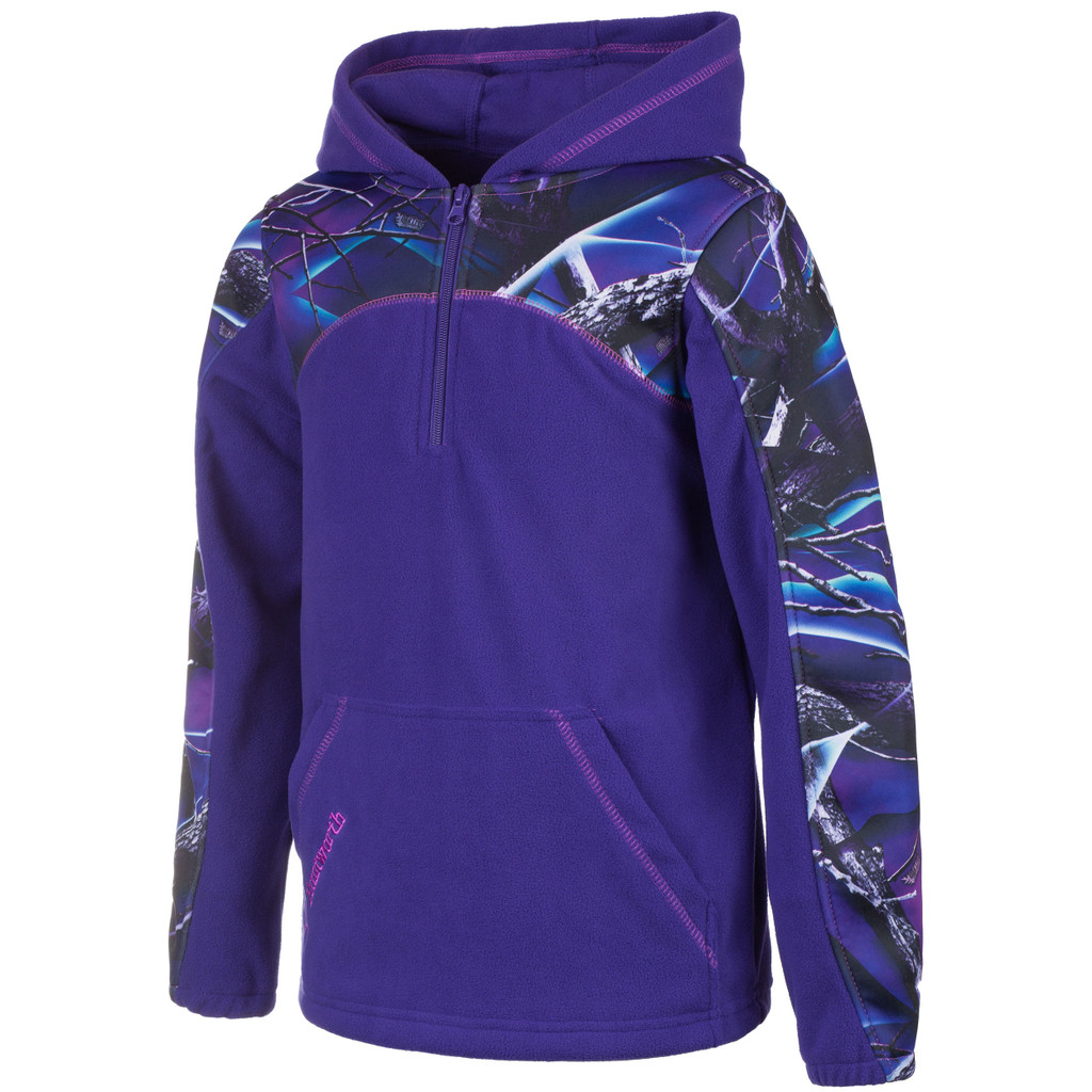 Youth's Violet and Ultraviolet color Anti-Pill Fleece Lifestyle Hoodie.