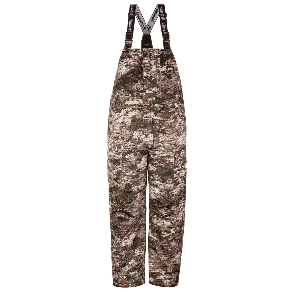 Men's Tarnen® pattern heavy weight hunting bib overalls.