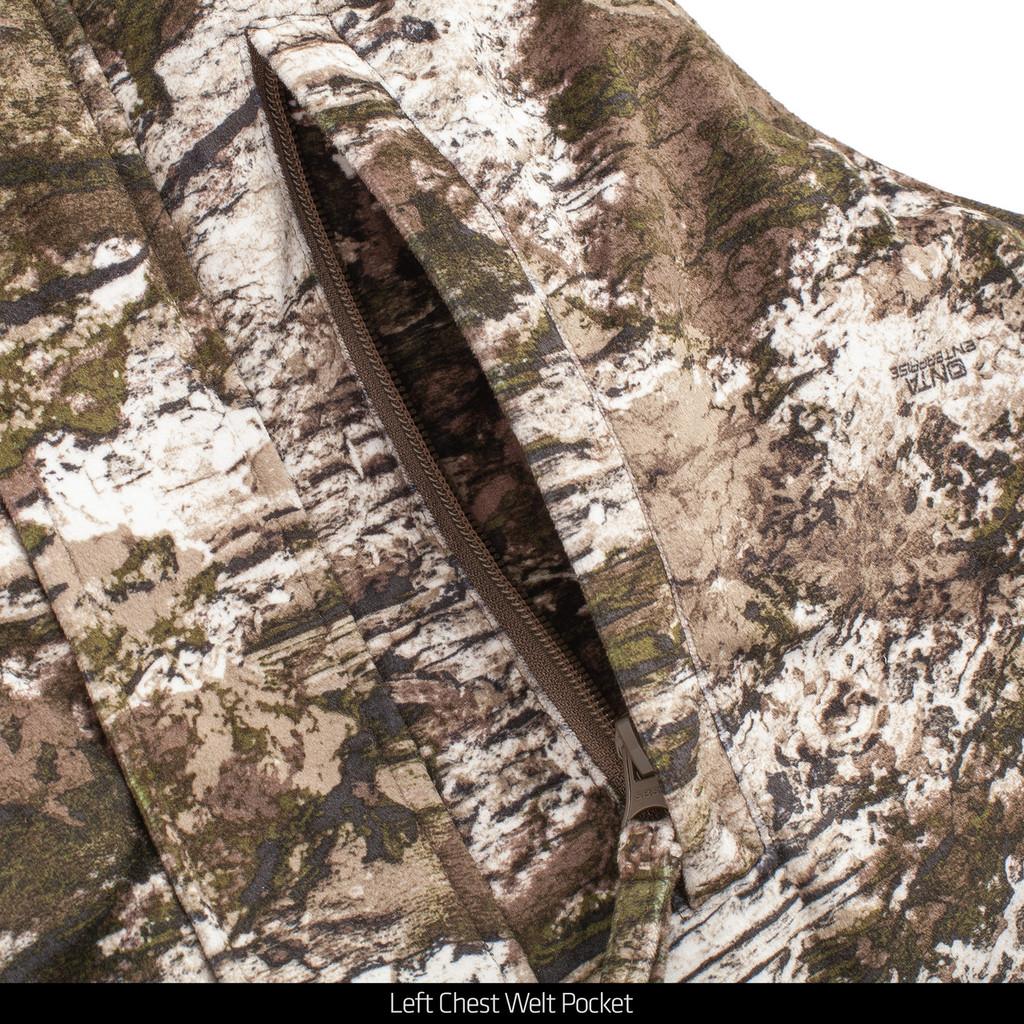 Tarnen® pattern heavyweight hunting bib overalls - Cargo pocket.