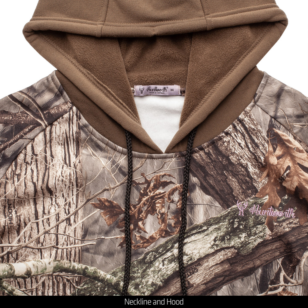 Heather Hoodie - Camo accenting