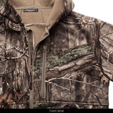 Heavy Weight Windproof Hunting Jacket - Chest detail.