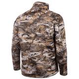 Rear view:  Disruption® windproof jacket - drop tail hem.