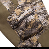 Heavy Weight Sherpa Bonded camo hunting Pants - Patch Cargo Side Pockets.