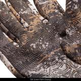 Disruption® Gloves - Silk screen palm closeup.