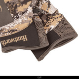 Midweight long pile fleece lined camo hunting loves - Neoprene cuffs.
