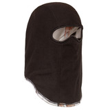 Heavyweight Lined Camo Hunting Facemask - Thick anti-pill fleece in black.