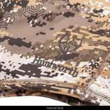 Long Pile Fleece Lined Camo Hunting Facemask - DWR finish on fabric.