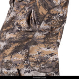 midweight camo hunting Hoodie with Facemask - Armhole gusset.