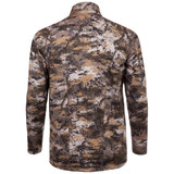 midweight camo hunting 1/2 Zip Pullover - Jacquard terry knit pattern for air flow.