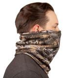 Disruption® Heavyweight Neck Gaiter - Panel of soft grid fleece to keep fuzz off scruff and beard.