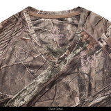 Light Weight Wicking Hunting Shirt - Chest detail.