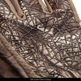 Hidd'n® Gloves - Silk screen palm closeup.