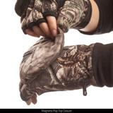 Hidd'n pattern gloves - Magnetic pop top closure.