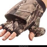 Heavyweight camo hunting glove - Pop top thumb tip.