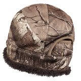 Rear view: Hidd'n® Hat - Fully lined with plush sherpa fleece.
