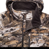 Heavy Weight Sherpa Bonded Camo Hunting Pullover - Chin Guard.