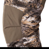 midweight Waffle Fleece Bonded camo hunting Pants - Articulated Knee.