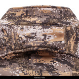 Disruption® midweight Soft Shell Jacket - Harness hole.
