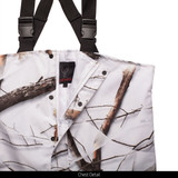 Waterproof Hunting Cover up Bib Overalls - Chest detail.