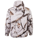 Rear view: Snow Camo Jacket - Polyester lining.