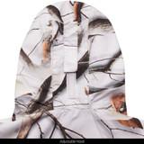 Snow Camo Waterproof Jacket - Adjustable hood.