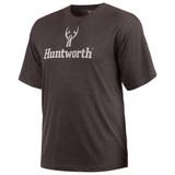 Men's Heather Gray Short Sleeve Tri-Blend T-Shirt.