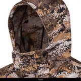 Light Weight Tricot Mesh Lined Rain Jacket - Adjustable hood with cinch cord.