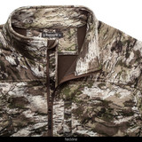 midweight Fleece Bonded camo hunting Jacket - High stand collar.