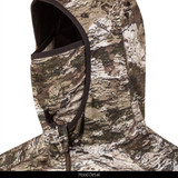 midweight camo hunting Hoodie with Face Mask - Built in face mask.