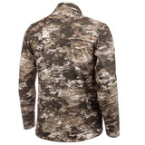 Rear view: Midweight hunting Pullover - 1/2 zip front.