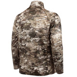 Rear view: Light Weight hunting Pullover - High stand collar.
