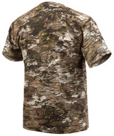 Rear view: Light Weight Cotton/Poly Hunting Shirt - Basic camo tee.