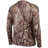 Rear view: midweight Hunting Base Layer Shirt - Treated with Silver Tec for scent control.