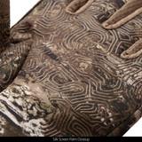 Tarnen® pattern Gloves - Silk screen palm close up.