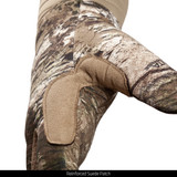 Midweight Lined Camo Hunting Gloves - Reinforced suede patch.