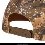 Disruption® pattern Baseball Cap - Adjustable plastic snap closure.