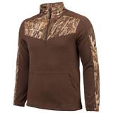 Men's Anti-pill Fleece ¼ Zip Pullover (Brown and Marshland™)