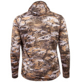 Rear view: Midweight hunting hoodie - Durable Water Repellant (DWR).