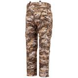 Rear view: Heavyweight Waffle Fleece bonded camo hunting pants - Zipper rear pocket.