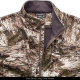 Windproof Disruption® camo jacket - Chest detail.