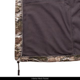 Grid Fleece Bonded Jacket - Interior mesh pocket.