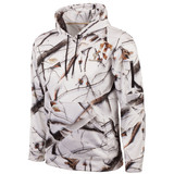 Men's Snow Camo pattern Midweight hunting hoodie.